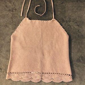 Beautiful crochet knit boho halter top